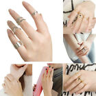 Fashion Multi Piece Women Girl Joint Knuckle accessories Nail Rings Jewelry Gift