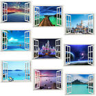 3D Creative Window Views Wall Stickers Home Bedroom Decor Wall Decals Art Murals