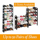 4/6/8/10 Tier Shoe Storage Shelf Rack Stand Organiser f/ 12/18/30/50 Pairs Shoes