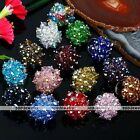 Womens Jewelry Faceted AB Crystal Glass Beads Party Finger Ring Adjustable US 6