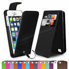 Flip Wallet Leather Case Cover For Apple iPhone 5 5S FREE Screen Protector