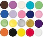 """Packs of 20 Solid Colour 7"""" Round Paper Plates - Party Plate - Tableware"""