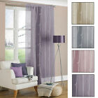 Allium Floral Voile Curtain Panel Home Decor With Sequins - 140cm x 225cm Approx