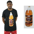 Moss New York Men's 40 Bottle Malt Liquor Tee T-Shirt