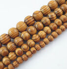 Natural Woodgrain Round Loose Spacer Bead Jewelry Fit Diy Bracelet6,8,10,12,16mm