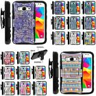 Cover for Galaxy Prevail LTE Prime Holster Shell Camo Designs Color Girly Manly