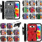 Case for Galaxy Prevail LTE Prime Stand Clip Holster Tough Design Cute Cool