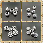Vintage Silver Tone Alloy Beads Charms Jewelry Accessories Multi-Style
