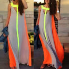 Sexy Womens Ladies Boho Summer Beach Evening Party Long Maxi Chiffon Dress