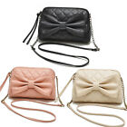 Lovely Women Girl Bags Faux Leather Shoulder Bowknot Satchel Body Tote Handbag