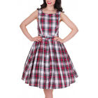 Dolly and Dotty ANNIE Retro 50s Dress Swing ~ Red/White Check All Sizes