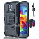For HuaWei Pronto Rugged Hybrid H Stand Holster Case Colors