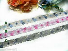 """DN501 - DN503: 7/8"""" Beautiful Lolita Flower Lace, Price is for 1 yard."""