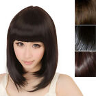 Fashion New Women Ladies Short Straight Full Bangs BOBO Hair Socialite Girls Wig