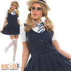 Sexy School Girl Fancy Dress Uniform Ladies Costume Adult Outfit + Hat UK 8-30
