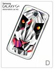 Geometric Animals Face Head Hard Back Case for Samsung Galaxy S4 i9500/i9505