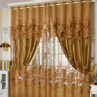 Sheer Curtain Panel Floral Window Balcony Room Divider Living Room Drapes Scarfs