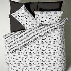 Catherine Lansfield Counting Sheep Black White Duvet Quilt Cover Bedding Set