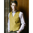 Brook Taverner - Boltby Waistcoat Mens Single Breasted Pure New Wool 6 Colours