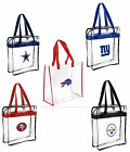 NFL Football Clear Messenger Tote Bag Stadium Approved - Pick Team on eBay