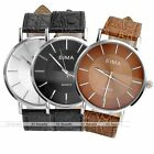 1pc Fashion Silvery Case Quartz Analog Watch Leather Band Casual Style New Gift