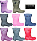 Short 3/4 Length Lightweight Wellingtons Womens Wellies Buckle Boots