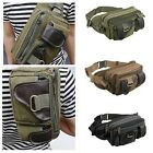 New Men's Canvas Leather Shoulder Chest Bag Military Bum Waist Fanny Pack Hiking