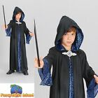 KIDS FAIRYTALE MYTHICAL LEGEND WIZARD ROBE - Age 3-13 - Boys Fancy Dress Costume