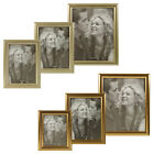 Metal Look Photo Frames Silver Copper Wall Mountable Hanging Free Standing