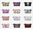Chic Zigzag Makeup Cosmetic Bag Rose Skull Portable Travel Pouch Unisex #1-20