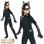 Catwoman Kids Fancy Dress Girls Batman Superhero Childs Halloween Costume Outfit