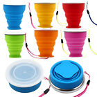 2015 New Portable Creative Collapsible Metal Ring Transparent Cover Cup Gift