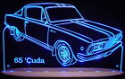 "1965 Plymouth Barracuda Edge Lit 21"" Lighted Sign LED Plaque 65 VVD7 USA Made"