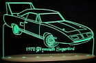 "1970 Plymouth Superbird Edge Lit 21"" Lighted Sign LED Plaque 70 VVD7 USA Made"
