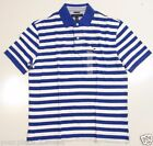 Tommy Hilfiger Mens White and Blue Stripe Polo Shirt Size L