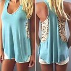 Sexy Women Lady Summer Vest Top Lace Sleeveless Blouse Casual T-Shirt Tank Tops