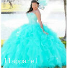 New Beaded Ball Gown Quinceanera Formal Prom Party Wedding Dresses Custom Size