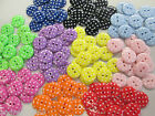 GOOD QUALITY POLISHED POLKA DOT SPOTTY BUTTONS VARIOUS COLOURS & SIZES