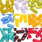 10 Czech Glass 9mm Long Oval Capsule Pill Bar Loose Beads With 2 Twin Holes