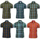 Mens Shirt by Brutus Trimfit 'Heritage Check' Short Sleeved