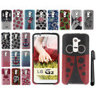 For Verizon LG G2 VS980 DIAMOND BLING CRYSTAL HARD Case Phone Cover + Pen