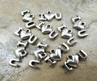"Set of 10 Pewter Charms - ""I LOVE (HEART) YOU"" - 5370"