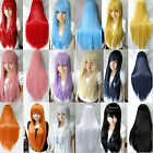 """Hot Women Long Straight Hair Anime Cosplay Fashion Party Full Wig 10 Color 32"""""""