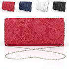 New Ladies Ridal Wedding Ladies Party Prom Evening Lace Hand Bag Purse