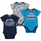 + Gerber San Diego Chargers Baby / Infant 3 Piece Bodysuit Creepers - Blue
