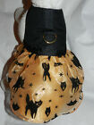 DOG CAT FERRET~Couture Harness Halloween BLACK GOLD Goth Dress Gown Witch Stars