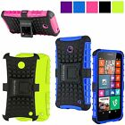 For Nokia Lumia 630 635 Shockproof Hard&Soft Rubber Impact Armor Kickstand Case