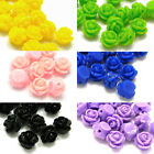 Lot of 20 Resin 9mm x 7mm Rose Bud Shaped Plastic Acrylic Loose Flower Beads