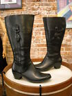 Clarks Ingalls Vicky 2 Black Leather Buckle Wide Calf Boot NEW