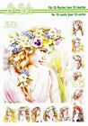 Flower Girls A5 3D Decoupage Book Le Suh Card Making Paper Crafts CUTTING REQ